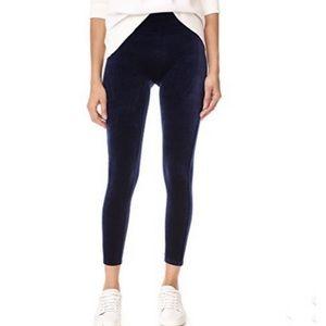 Spanx blue velvet high rise leggings